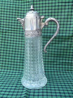 Lead Crystal Silver Plate Pitcher