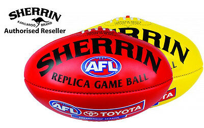 Sherrin AFL REPLICA GAME BALL (Red or Yellow) - PVC - Sz 5