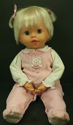 """Little Mommy Interactive Baby Doll Fisher Price 16"""" Mattel 2006"""