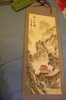 Great Wall of China Wall Hanging Scroll in Box