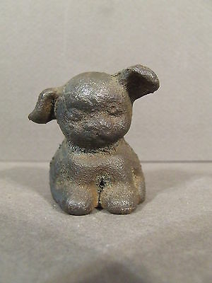 Small Vintage Cast Iron Griswold Pup Paperweight