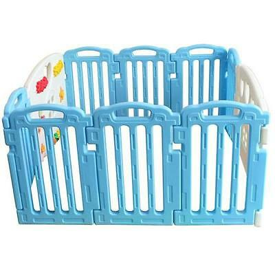 Baby Playpen Kids 10 Panel Safety Play Yard Home Indoor Outdoor Child Pen Fence