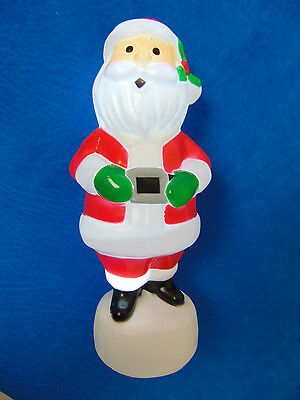 """NEW w/ Tags Christmas SANTA CLAUS Small LED LIGHT Blow Mold 8"""" in. FREE SHIPPING"""