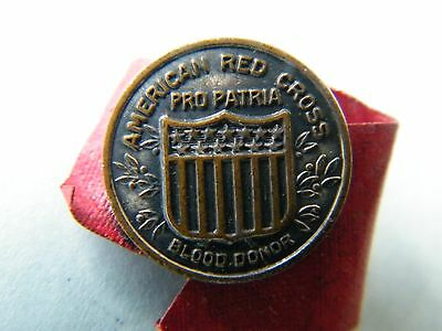 Vintage 1940's American Red Cross Blood Donor Pin