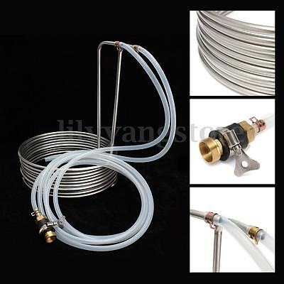 8.8m Stainless Steel Immersion Wort Chiller elevated Coils Home Brew Beer