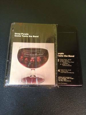 8 Track Deep Purple Come Taste the Band 1975 w/ org plastic wrap picture box MNT