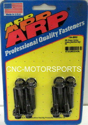 Arp Intake Manifold Bolt Kit 134-2002 Chevy 305 350 Vortec Black Oxide Hex Head