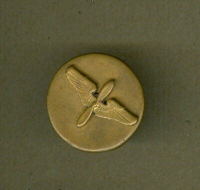Vintage Us World War I Flying Collar Insignia Wings Propeller Screw Post Ww Orig