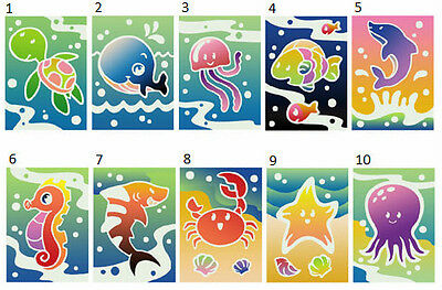 NEW Sand Art Kit - Sea Theme (12 packs in 10 designs) for party, craft, fete...