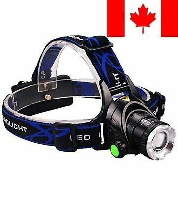 Ultra-Bright Headlamp with Rechargeable Batteries, DLAND LED Light Waterproof...
