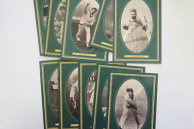 1996 Cricket Australian Cricket Hall of Fame Inductees set of 10 postcards