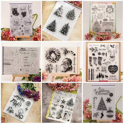 DIY Transparent Silicone Clear Rubber Stamp Christmas Sheet Cling Scrapbooking