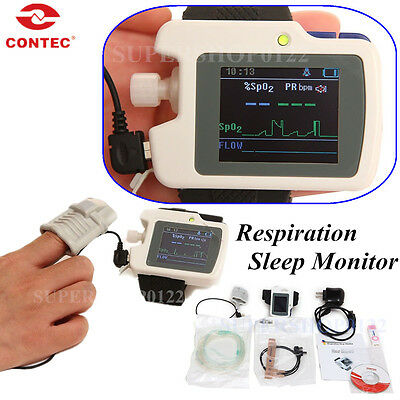 CONTEC Sleep apnea screen meter,SPO2,Pulse Rate Respiration Sleep Monitor RS01