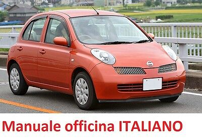 NISSAN MICRA K12 (2002/2010) Manuale Officina ITALIANO SU CD