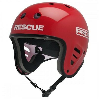 Pro-tec Classic Full Cut RESCUE Watersports Helmet XS to XL, Gloss Red 61282