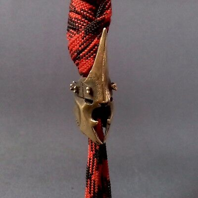 """ Nazgul Helmet "" COLLECTIBLE BRONZE BEAD PARACORD BRACELET LANYARD BEAD"