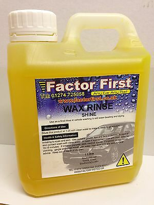 Trade Valet Hi-Wax Rinse Hand Wash Instant Shine Car Care Cleaning 1Litre