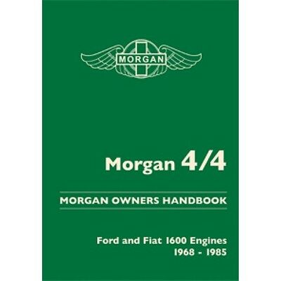 Morgan 4/4 Owners Handbook Ford and Fiat Engines 1968-1985 book paper