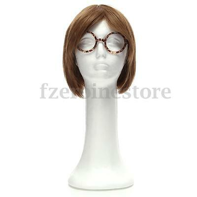 Mannequin Female Foam Long Neck Head Model Hair Hat Wig Glasses Stand Display