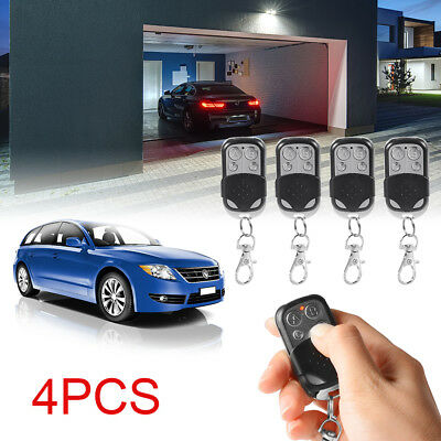4x Universal Key Fob Remote Control for Garage Door Roller Shutter 433mhz HS641