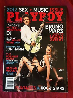Bruno Mars Signed Playboy Magazine In Person Autograph