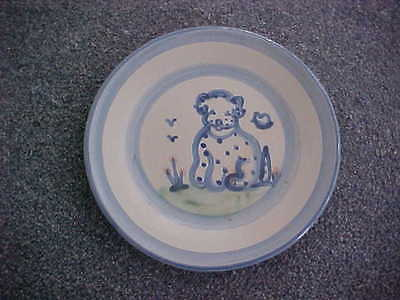 M.a. Hadley Stoneware Plate Showing Dog