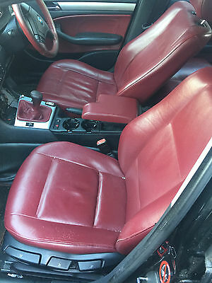 Bmw E46 Red Leather Complete Set Interior With Door Cards