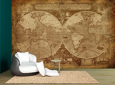 OLD WORLD MAP Brown Wall Mural Photo Wallpaper GIANT WALL ... on giant laminated world maps, giant tile murals, elephant wall mural, galaxy wall mural, world wall mural, enchanted forest wall mural, giant wall murals, peter pan wall mural,