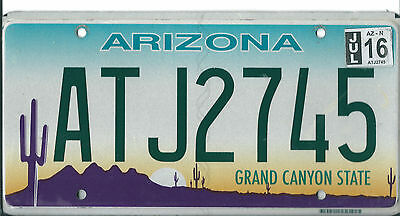 USA American licence plate, number plate, ARIZONA                          XXX