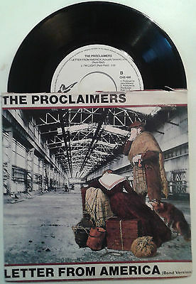 The Proclaimers - Letter from America + version - 45 giri Chrysalis 1987