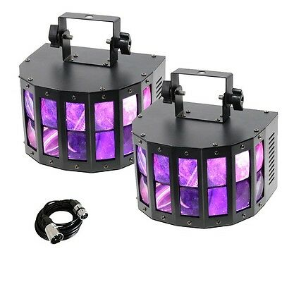 2x Equinox Interceptor MKII LED DJ Disco Party Club Light Effects with DMX Cable