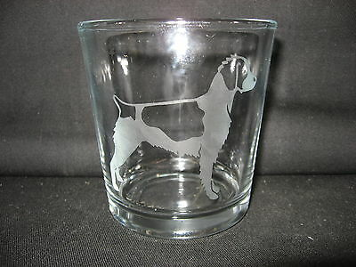New Etched Brittany Spaniel Old-Fashioned Rocks Glass
