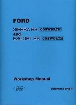 FORD Sierra Escort Cosworth Car Shop manual Very large Catalogue Book Paper