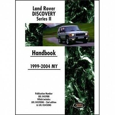 Land Rover Discovery Series II Parts Catalogue 1999-2003 MY book paper