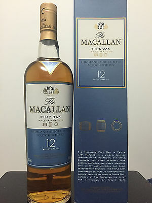 The Macallan 12 Year Old Scotch Whisky 700ml