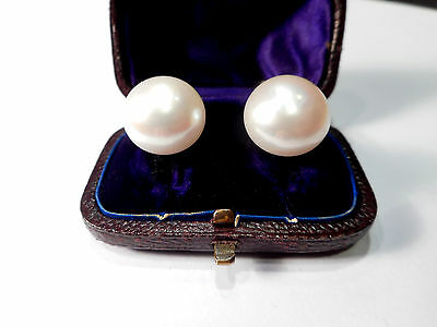 Ciro 9Ct Rose Gold Large Pearl Vintage Earrings .. (Clip-On)