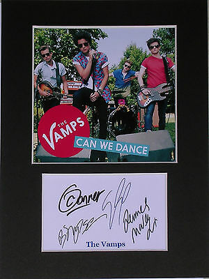 The Vamps photo print mounted 8x6 signed printed autograph music gift display #C