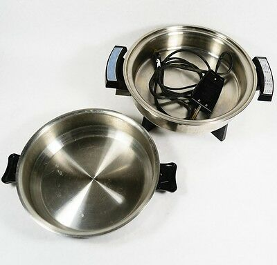 """Webalco West Bend Stainless Steel 11"""" 900W Electric Skillet 17209"""