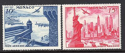 (043)     Monaco 1947 Philatelic Exhibition 10f & 15f SG940-41 LM/Mint