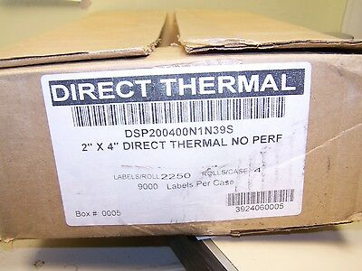 """2 X 4(2"""" X 4"""") Direct Thermal Labels / 3"""" Core / 2250 Labels per Roll)*4 Roll*"""