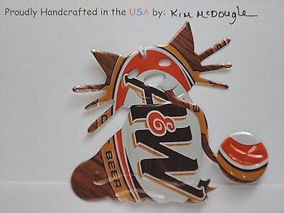 Kitty Cat Handmade Christmas Ornament Recycled Aluminum Root Beer Soda Can Art