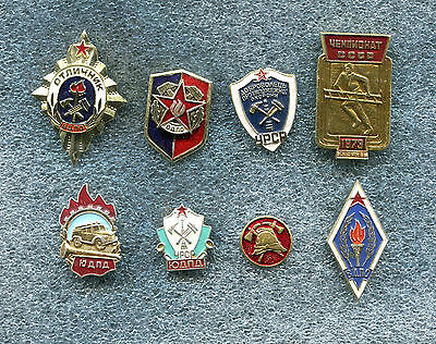 Russia USSR Firefighting Service 8 Pin Badge
