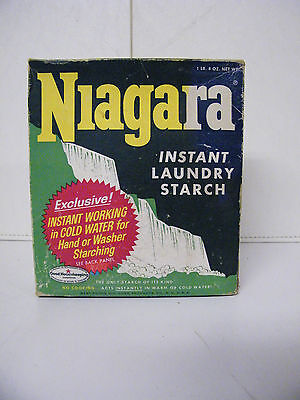 Vintage Niagara Instant Laundry Starch Opened Box