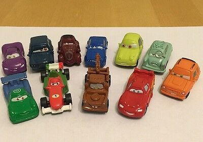 Disney Pixar Cars 11 Figurine Toy Cake Toppers Tow Mater  Lightning McQueen