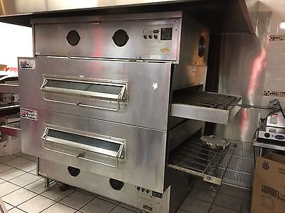 Middleby Marshall Ps 360  Double Stack Natural Gas Conveyor Pizza Ovens