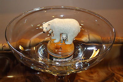 Heavy Resin or Living Stone POLAR BEAR and CUBS ornament figurine