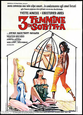 3 Femmine In Soffitta Manifesto Cinema Film Three In The Attic Movie Poster 2F