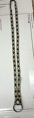 "Nice 34""great Condition Fully Hand Beaded Native American Indian Pow Wow Lanyard"