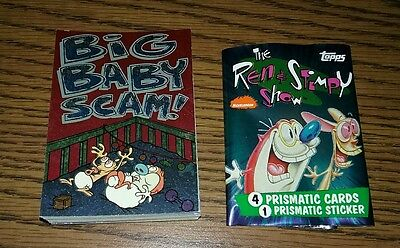 REN AND STIMPY 1993 Topps COMPLETE 50 card base set Nickelodeon