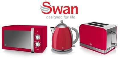 Swan 3 Piece Kitchen Set: Microwave, Kettle and Toaster FREE SHIPPING - NEW!